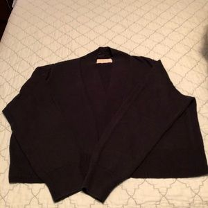 Navy Michael Kors bolero sweater